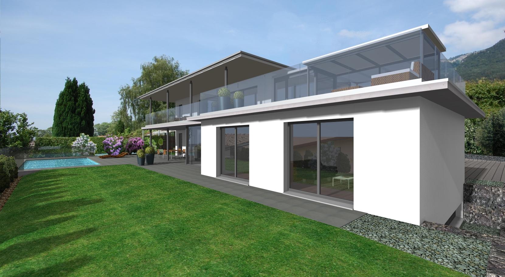 Einfamilienhaus h nselsmatt bettlach architektur und for Raumgestaltung architektur