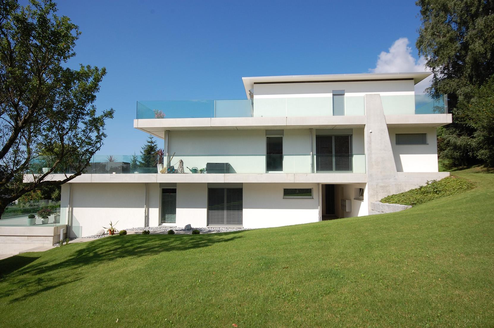 Terrassenwohnungen grenchenstrasse bettlach architektur for Raumgestaltung architektur